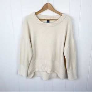 Chelsea & Theodore•boxy chenille sweater medium